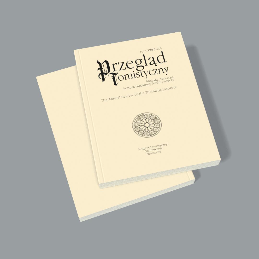 Przegląd Tomistyczny, tom XXII 2016