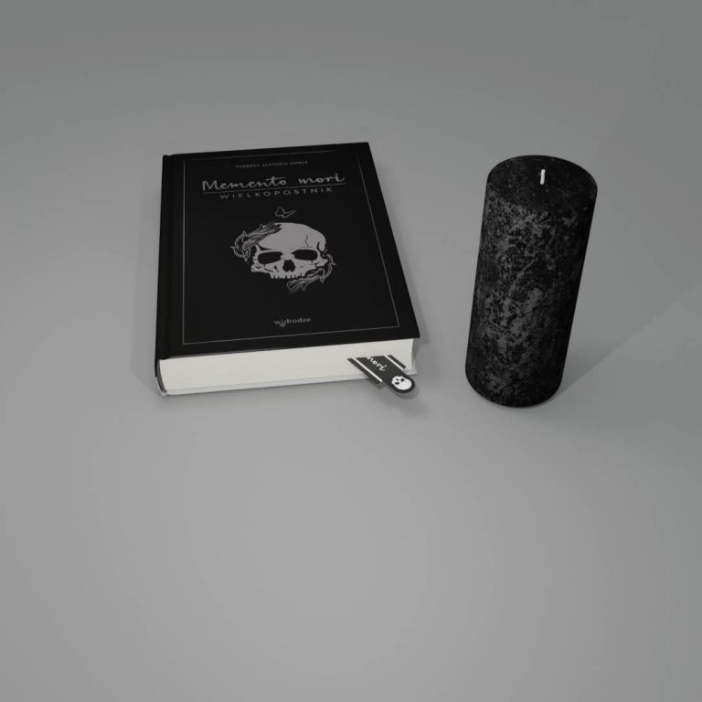 Memento mori + świeca + zakładka