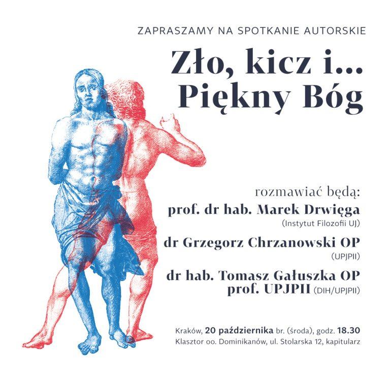 Zapraszamy do Krakowa na spotkanie autorskie Zło, kicz i… Piękny Bóg